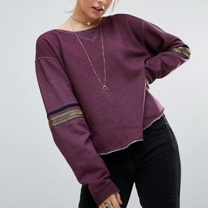 Free People Harper Beaded Embellished Sweater - S